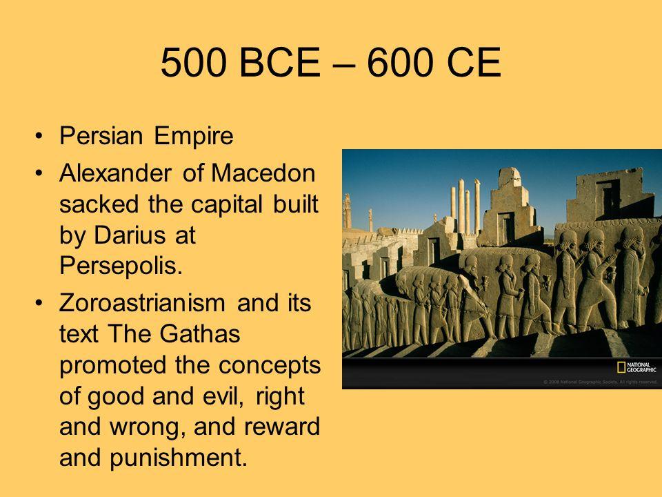 600 CE – 1450 CE Muhammad introduces Islam.