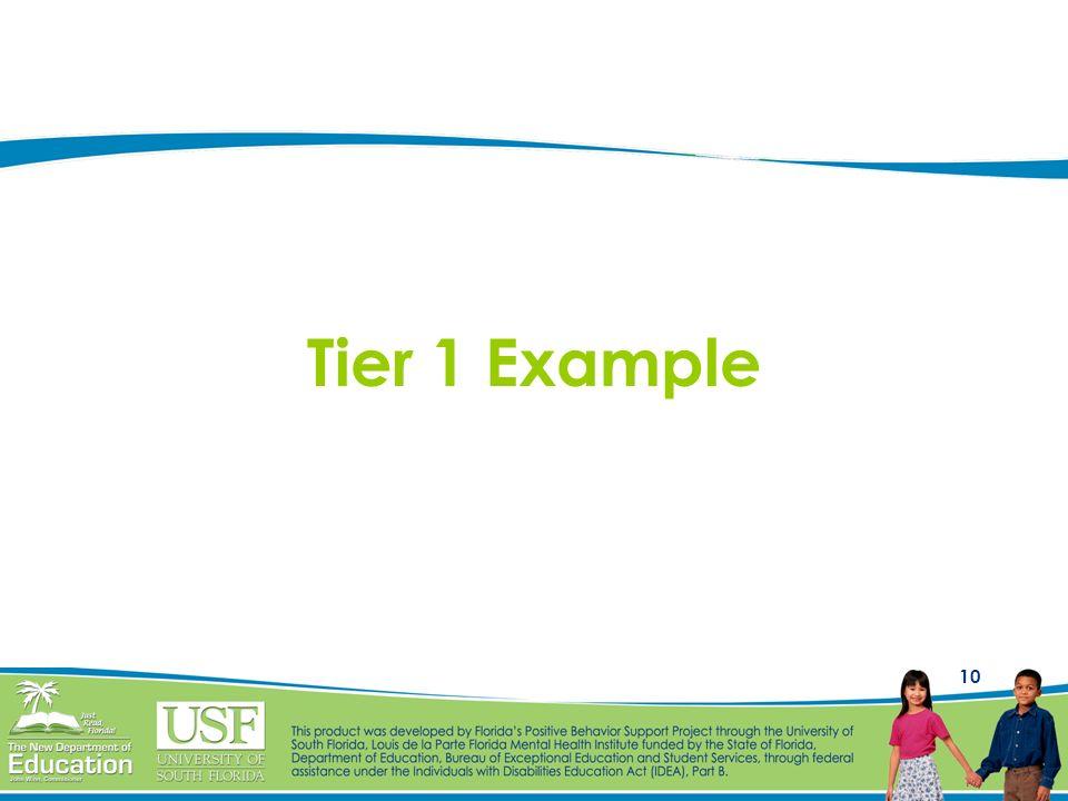 10 Tier 1 Example