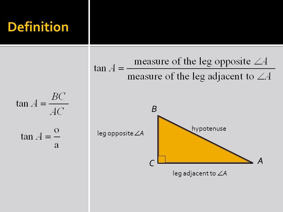 Ex 1 A C B 41 40 9 Find tan A and tan B.