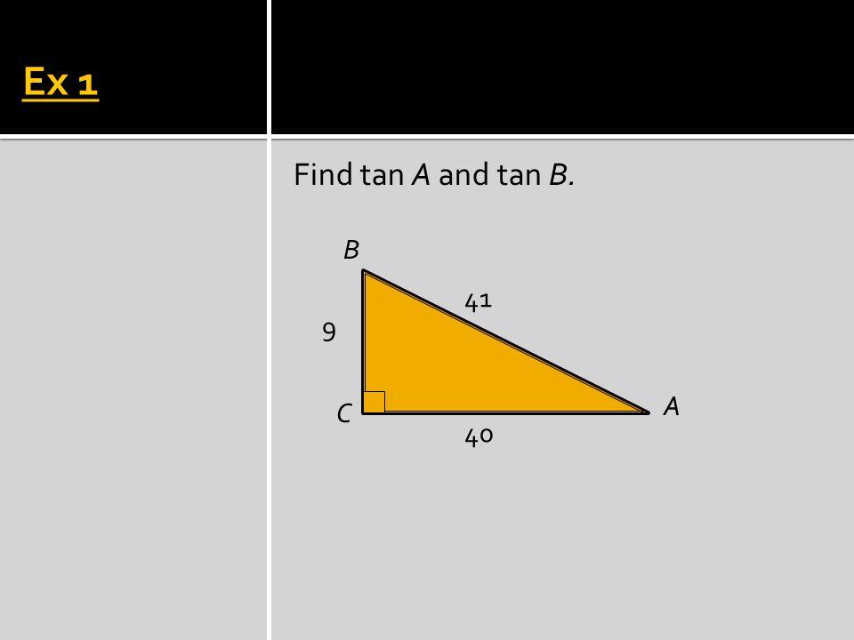 Ex 2 P R Q 5 4 3 Find tan P and tan Q.
