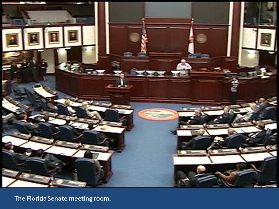 The Florida Senate meeting room.