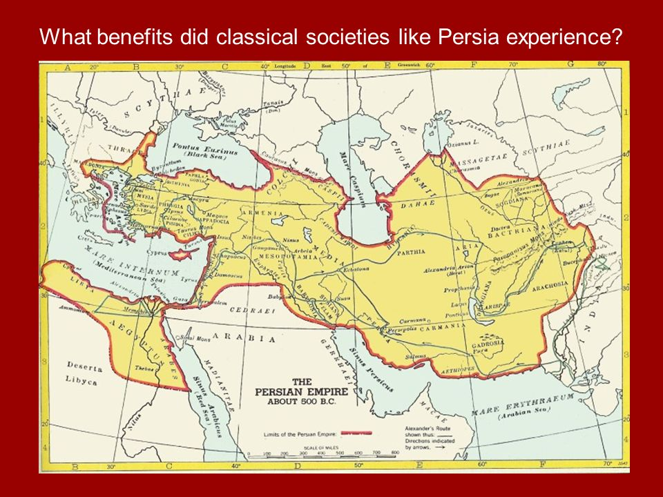 What benefits did classical societies like Persia experience?