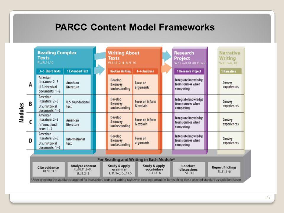 47 PARCC Content Model Frameworks http://media.doe.in.gov/commoncore/MajorShift4.html