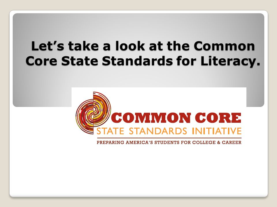 The Common Core Literacy Standards for English/Language Arts has five strands.