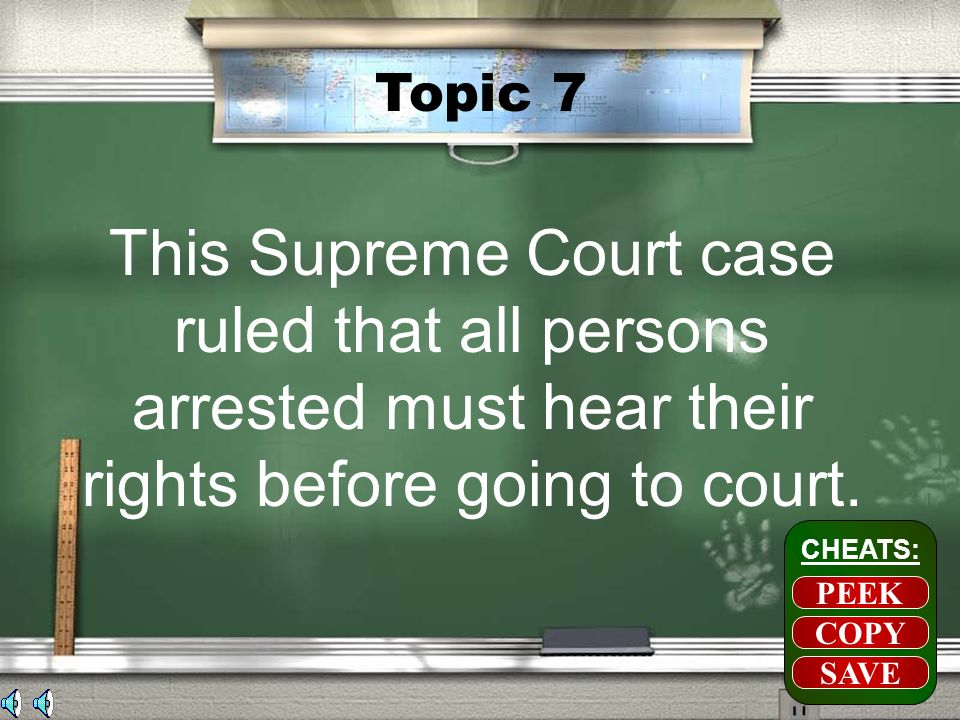 Topic 6 1.Pass new laws to get around SC rulings 2.Not enforce ruling of the Supreme Court