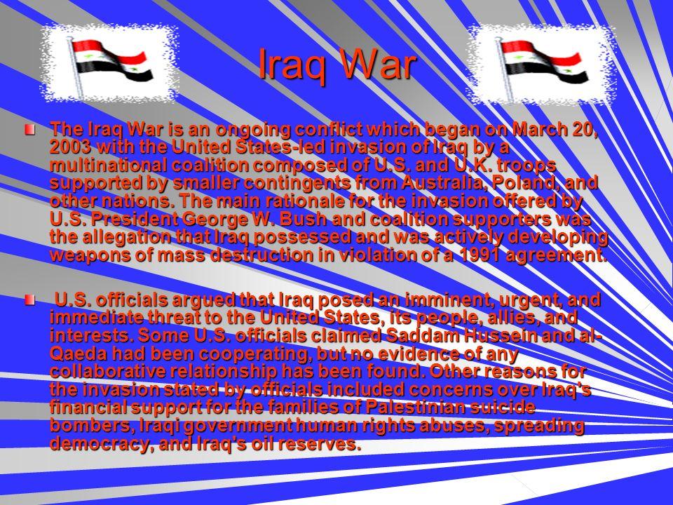 Iraq Conflict Iraq Conflict )($)( Delverrick Dickey )($)( )($)( Wade Wilson )($)(