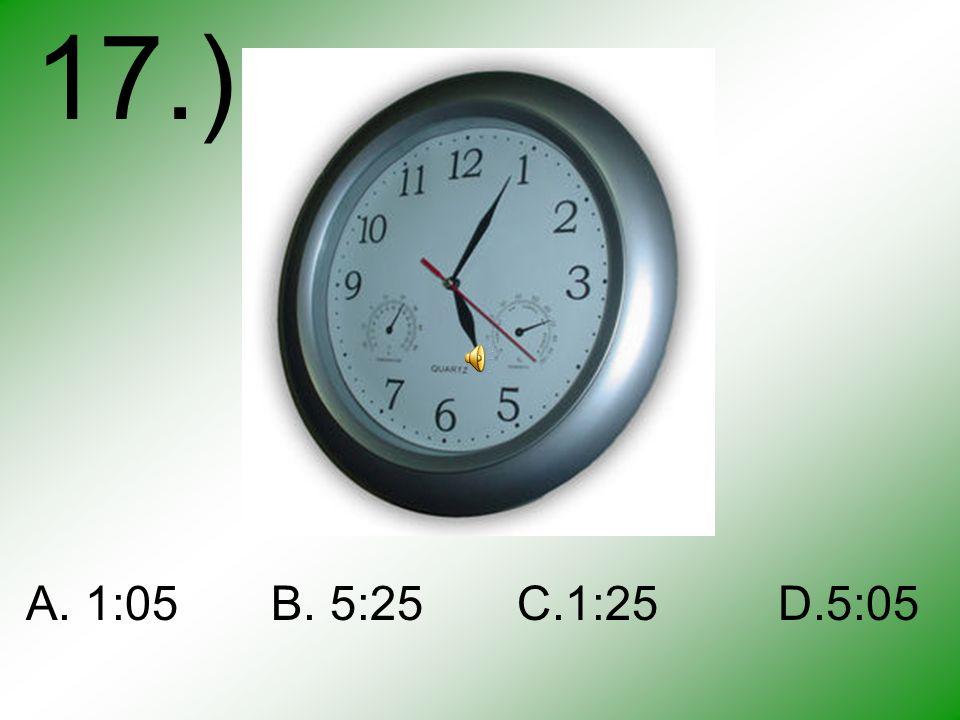 START A B C D 16.)