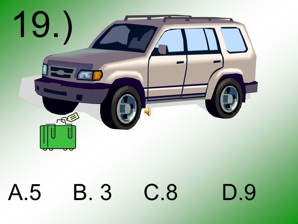 18.) A B C D