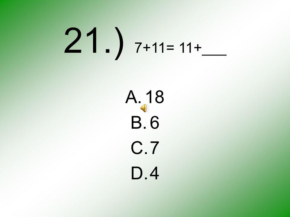 20.) A. B. C. D.