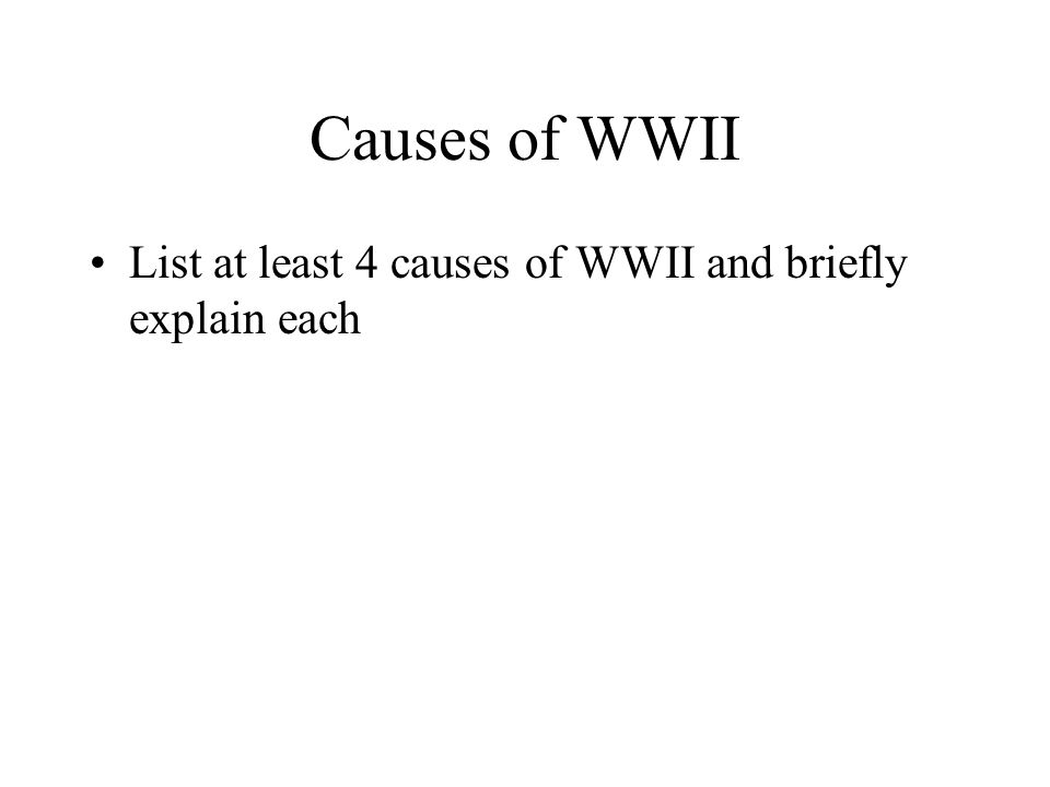 Topic of Interest For slides numbered 5,6,7, and 8, students will select 4 of the 10 WWII interest topics on which to conduct research and develop informative pages.