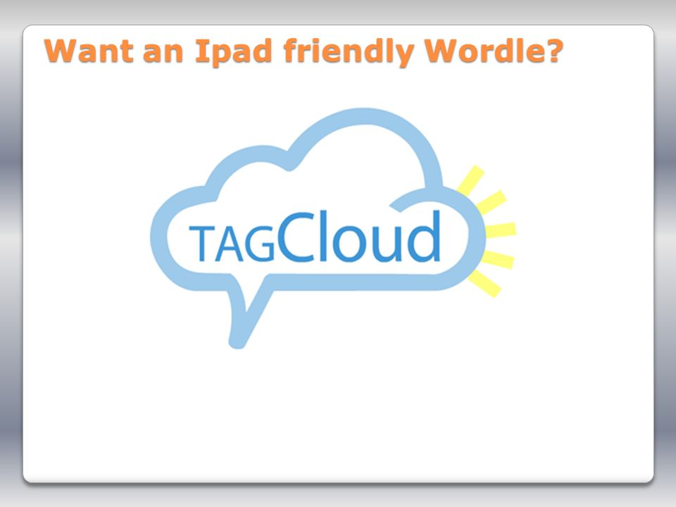Want an Ipad friendly Wordle