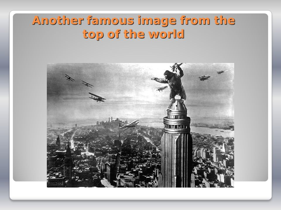 Another famous image from the top of the world
