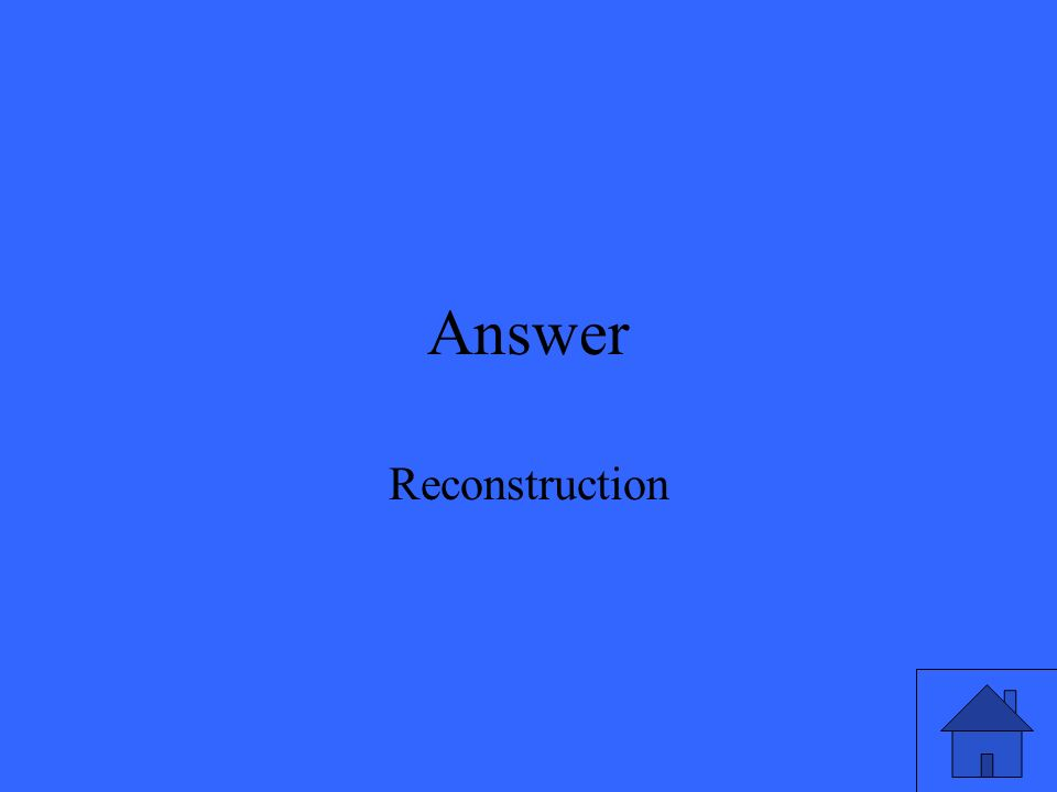 Answer Reconstruction