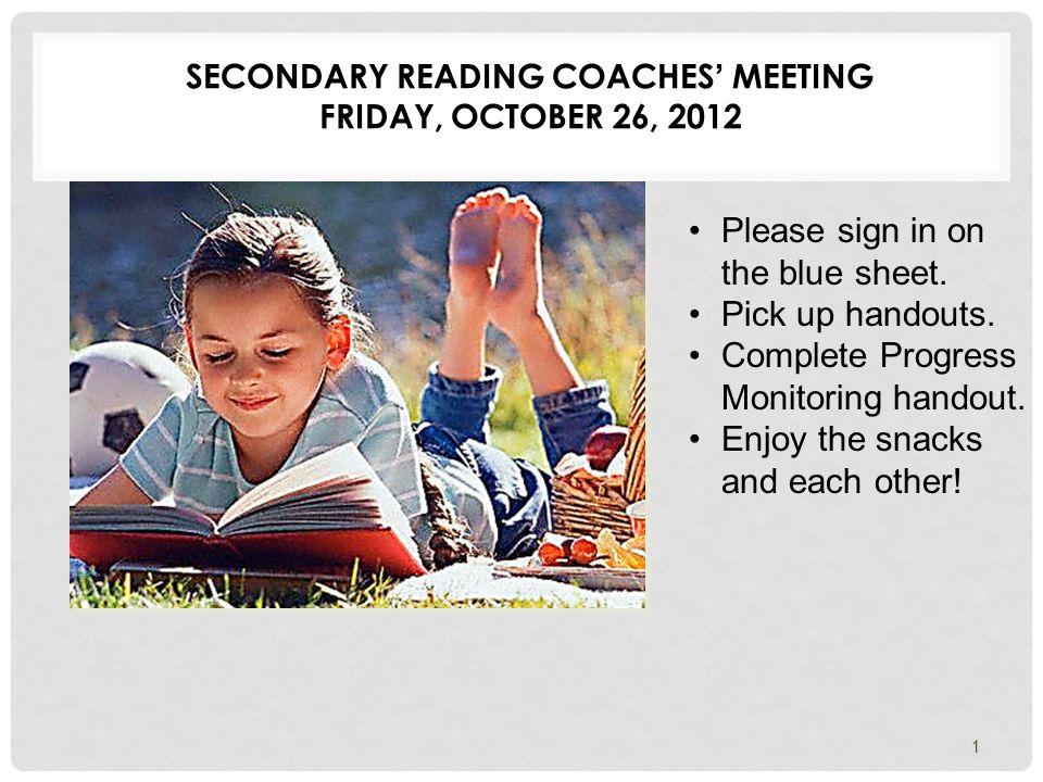 READING COACH SHOWCASE CONTENT LITERACY LESSONS 42 Rebecca Kirchharr Leon High School Lamonica Butler Nims Middle School Sherry Whiddon Deerlake Middle School Adrianne Taylor Griffin Middle School