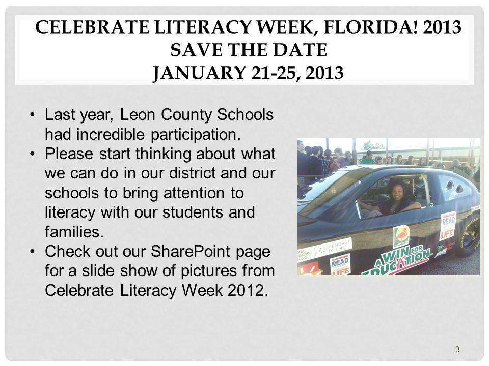 CELEBRATE LITERACY WEEK DATES AND EVENTS 4 Celebrate Literacy Week, Florida.