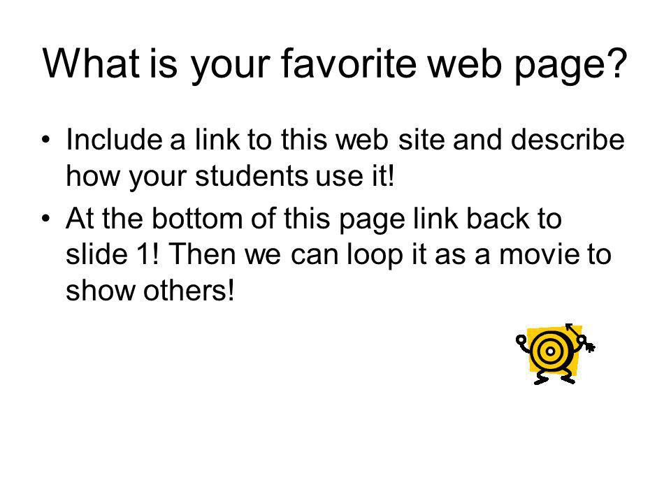 What is your favorite web page.