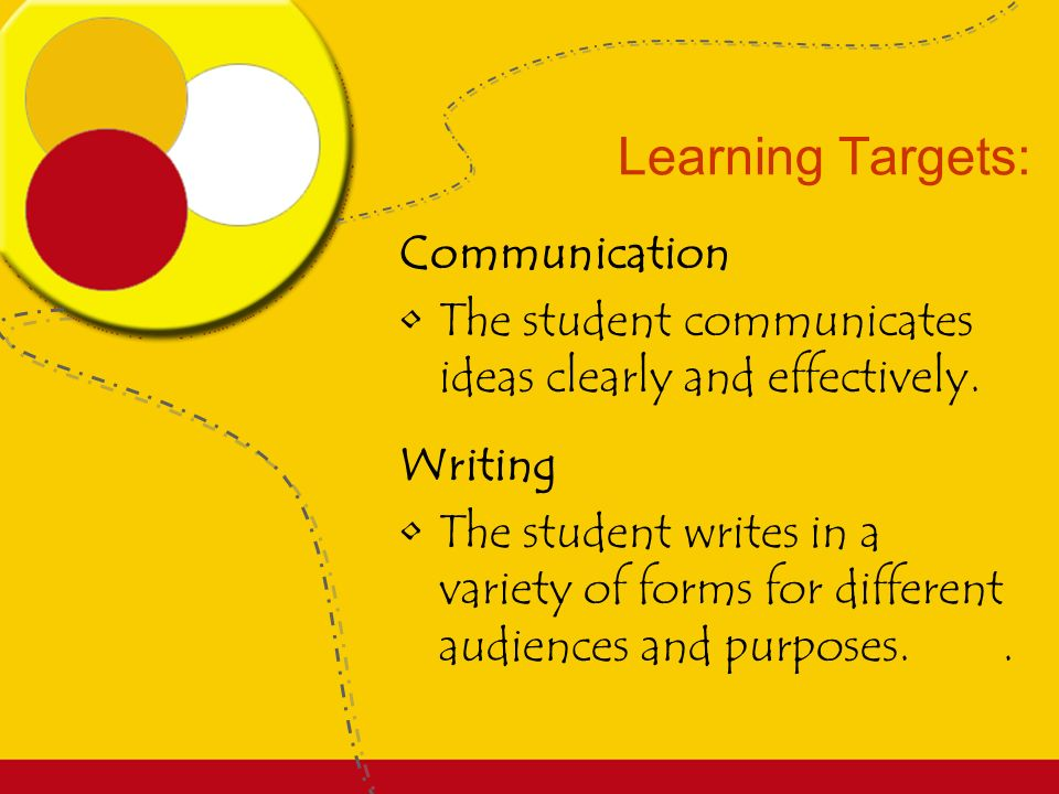 Learning Targets: Science Develop the knowledge and skills necessary to do scientific inquiry.