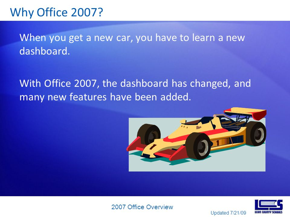 Get up to speed with the 2007 Office system What about the new file format in Access.