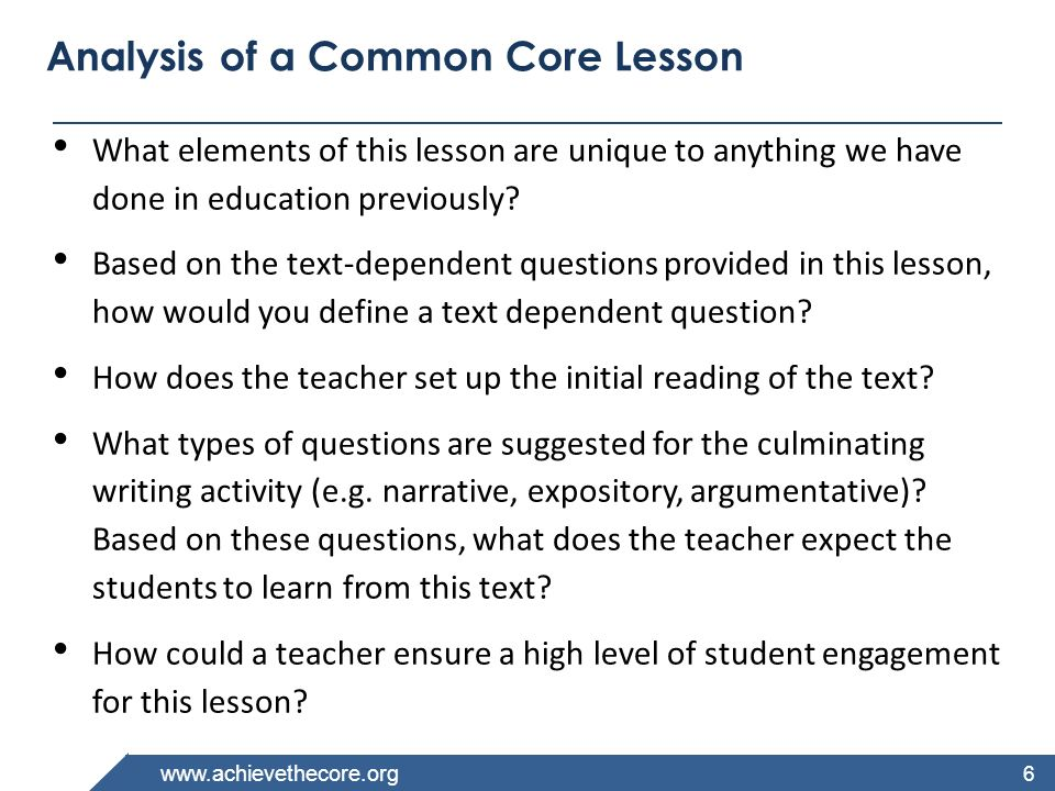 www.achievethecore.org The CCSS Requires Three Shifts in ELA/Literacy 1.