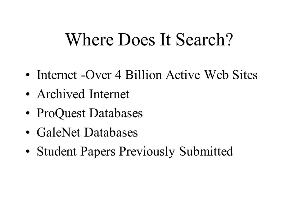 Where Does It Search.