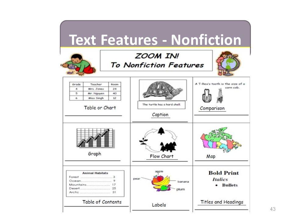 43 Text Features - Nonfiction