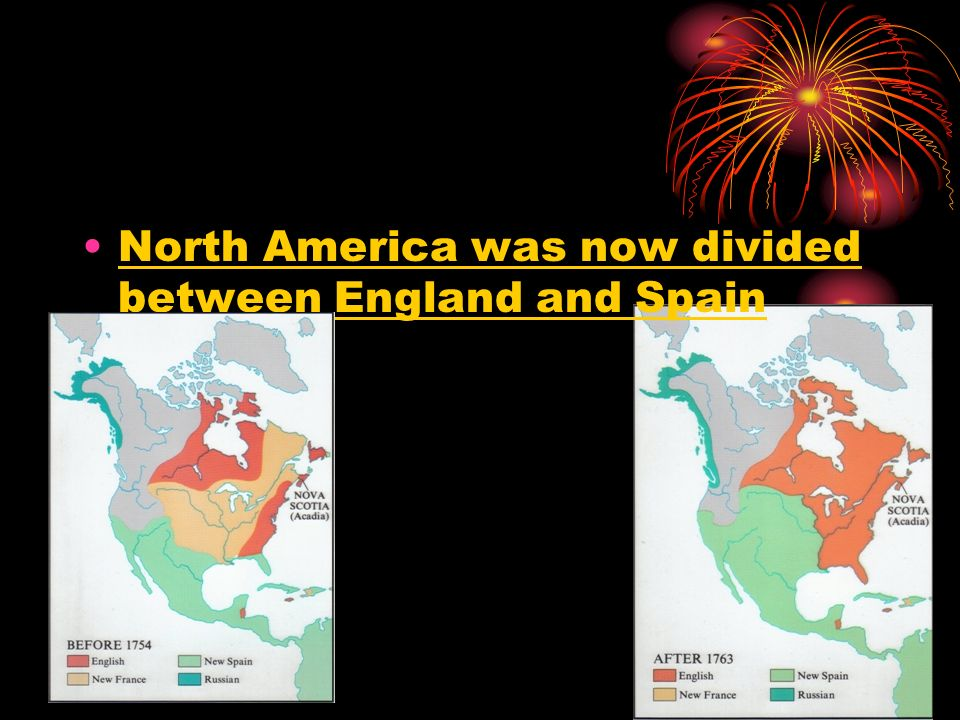 North America was now divided between England and Spain