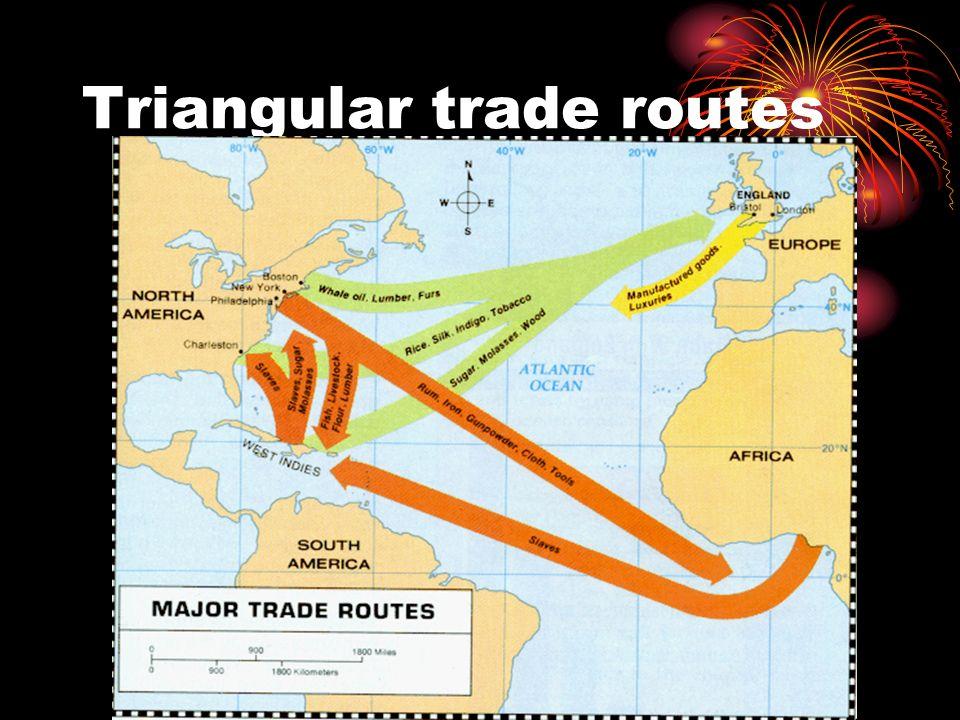 Triangular trade routes