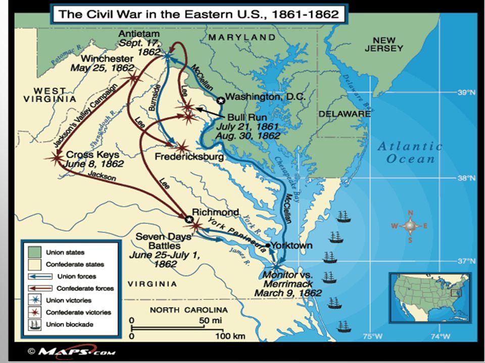 McClellan is replaced by Burnside Battle of Fredericksburg Virginia – Dec.