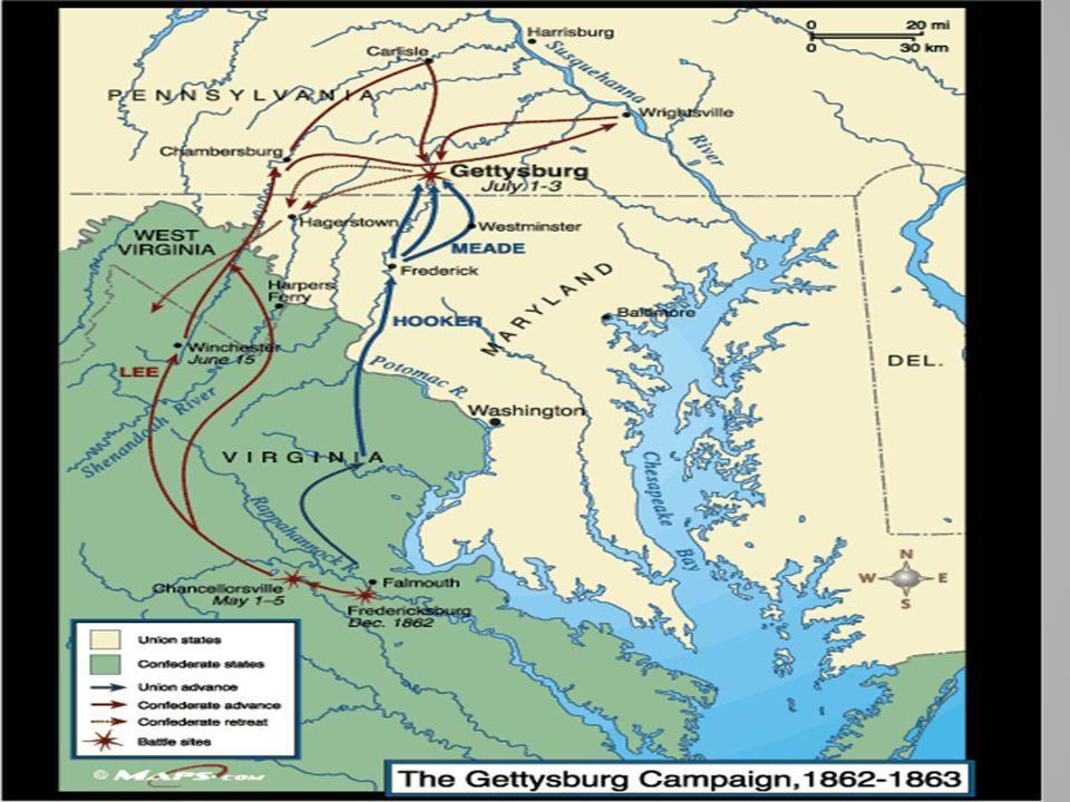 Battle of Gettysburg – Pennsylvania July 1863.3 days.