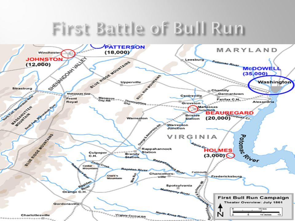 1 st major battle Fought in Manassas Virginia.