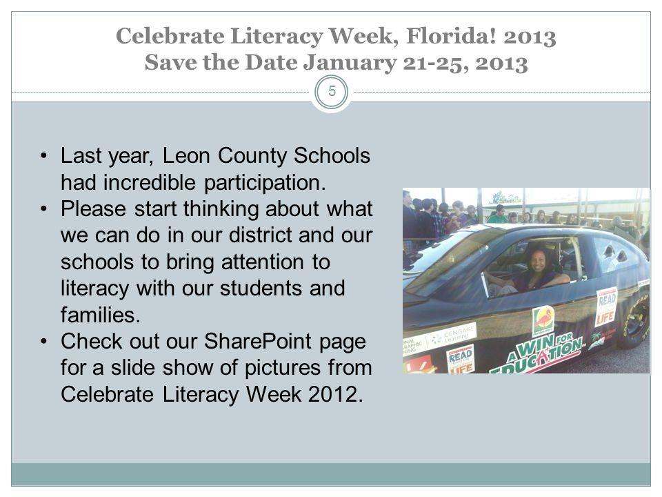 Celebrate Literacy Week, Florida.