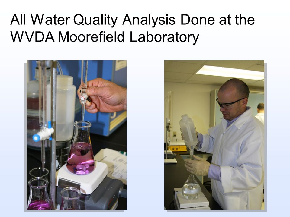 All Water Quality Analysis Done at the WVDA Moorefield Laboratory