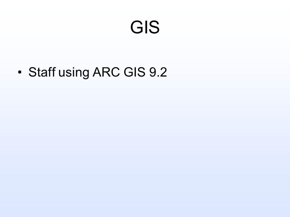 GIS Staff using ARC GIS 9.2