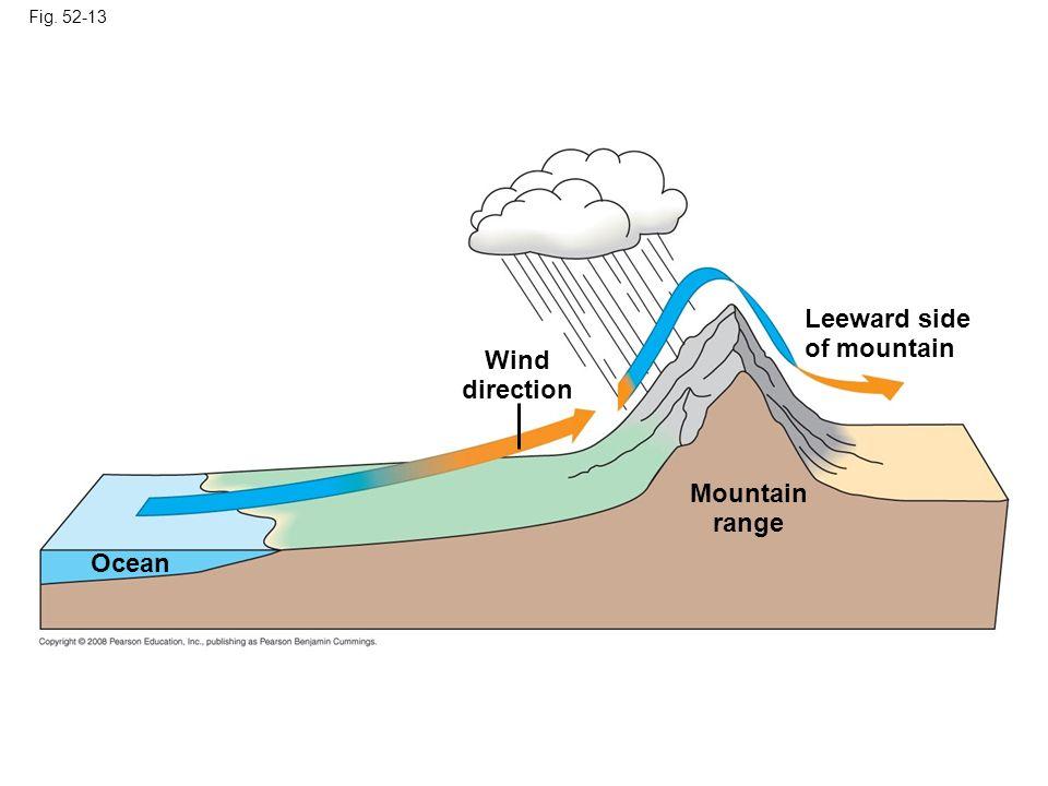 Fig. 52-13 Wind direction Mountain range Leeward side of mountain Ocean