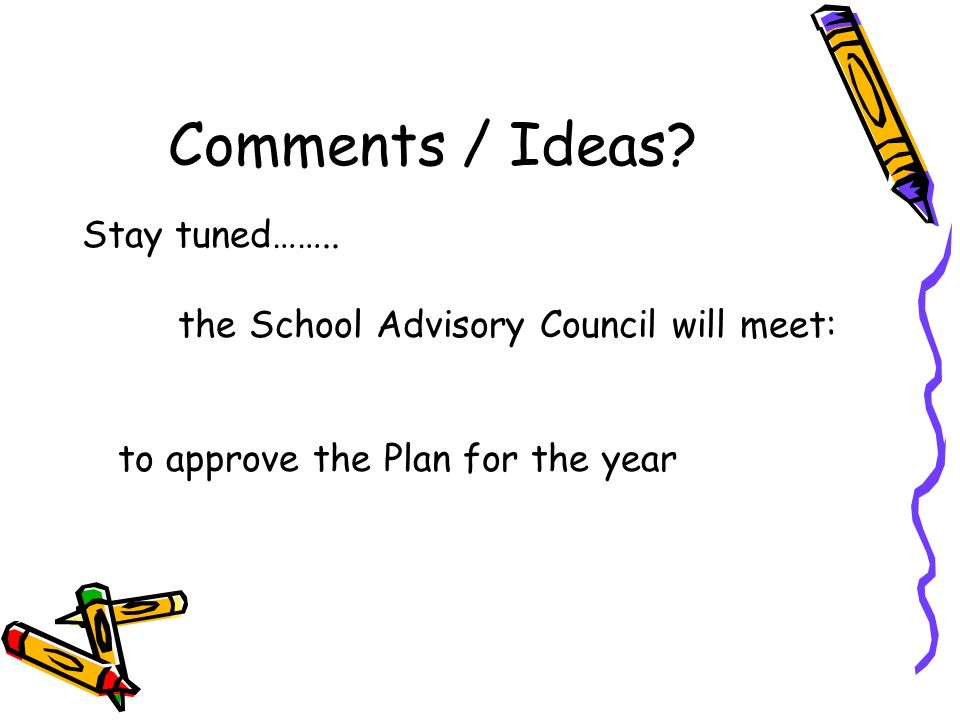 Comments / Ideas.Stay tuned……..
