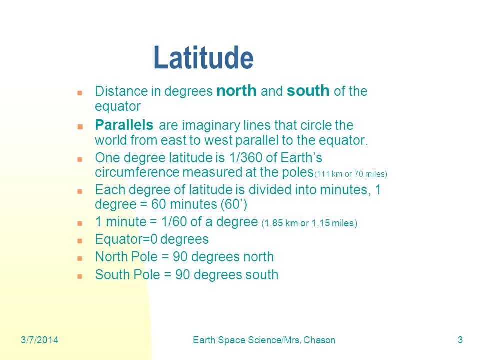 3/7/2014Earth Space Science/Mrs. Chason54