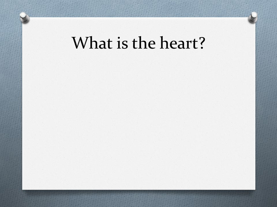 What is the heart?