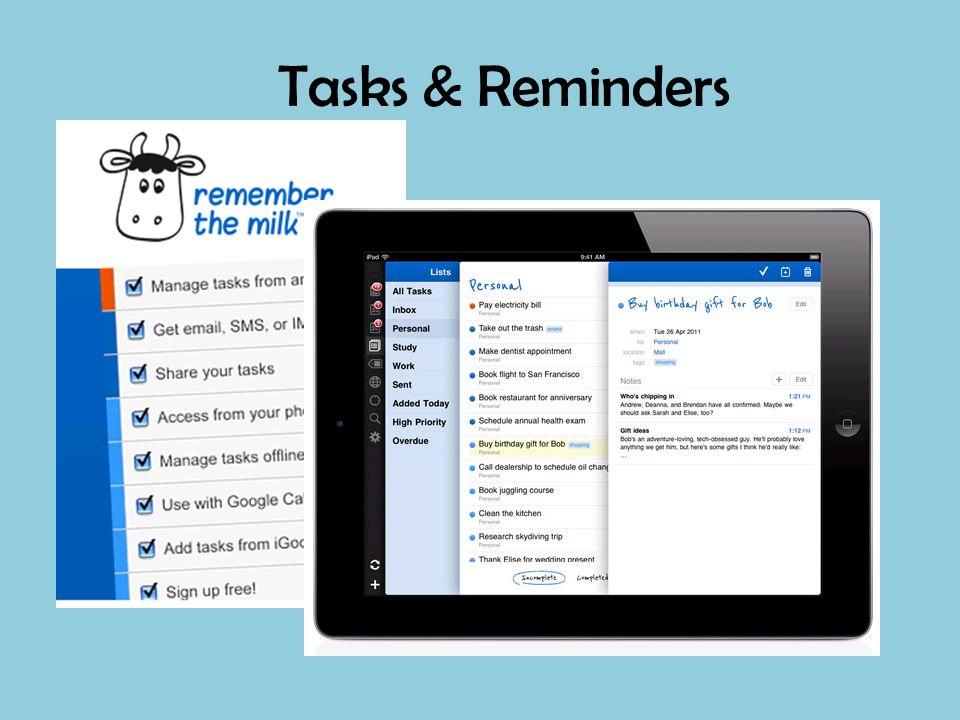 Tasks & Reminders