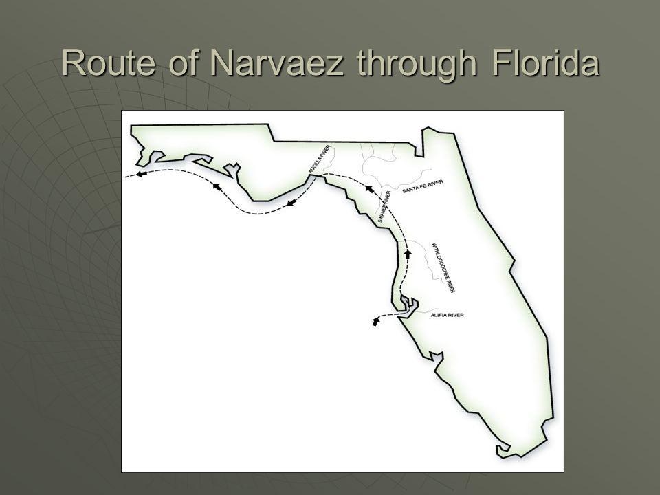 Route of Narvaez through Florida