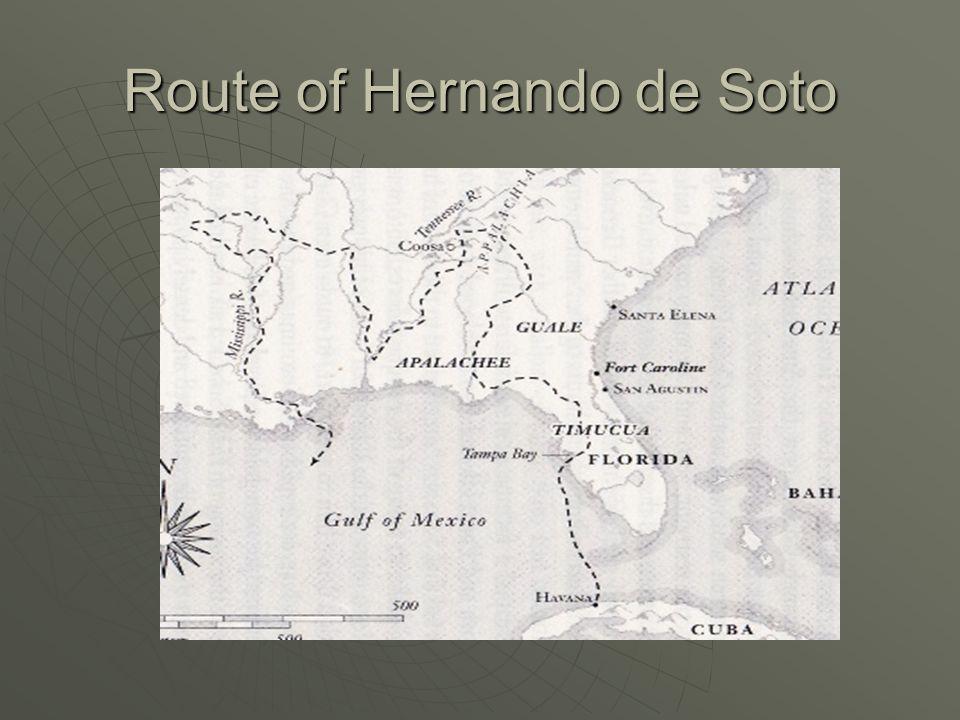 Route of Hernando de Soto