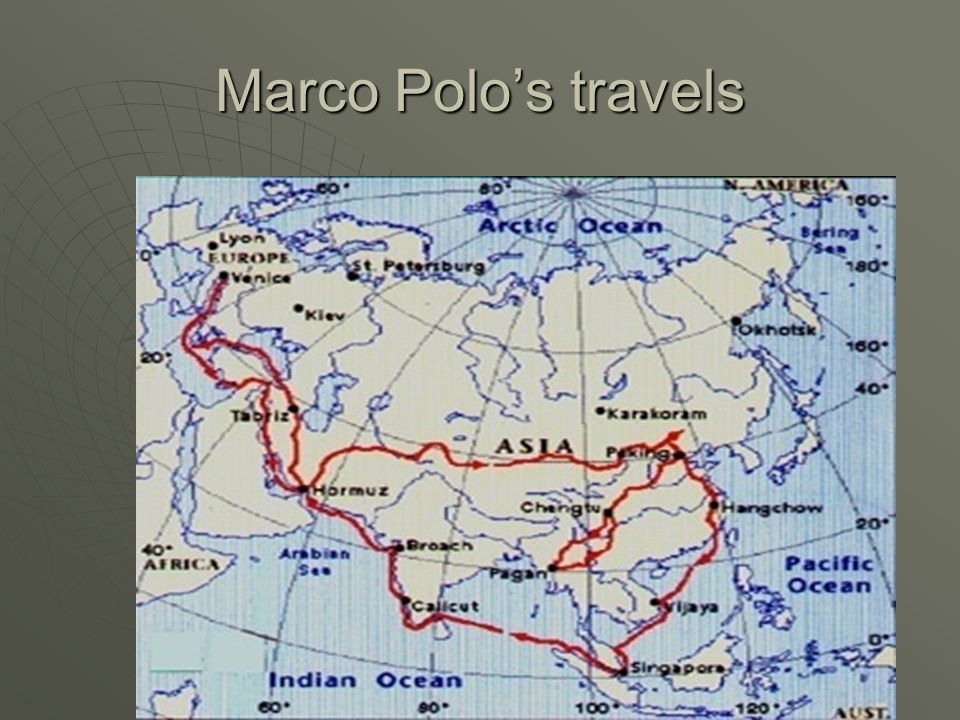 Marco Polos travels