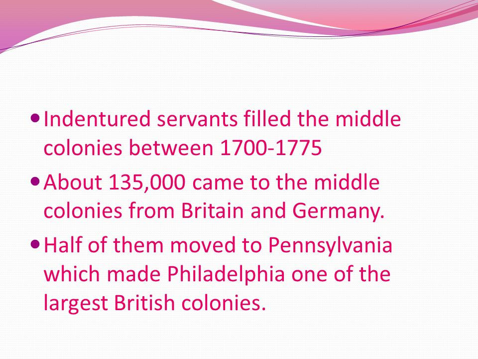 The Middle Colonies Middle Colonies- Delaware, Pennsylvania, New Jersey, New York. These colonies had rich land. The middle colonies grew staple crops