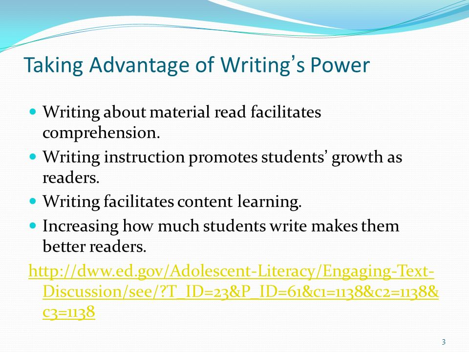 Writing in Response to Reading already presented in NGCAR-PD Directed note taking Text coding or text marking Question generation Writing in response to reading a passage 4