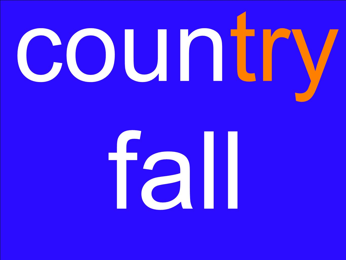 country fall