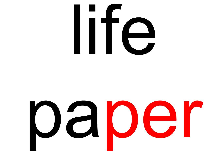life paper
