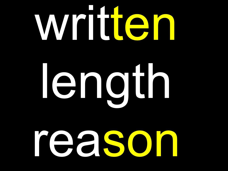 written length reason