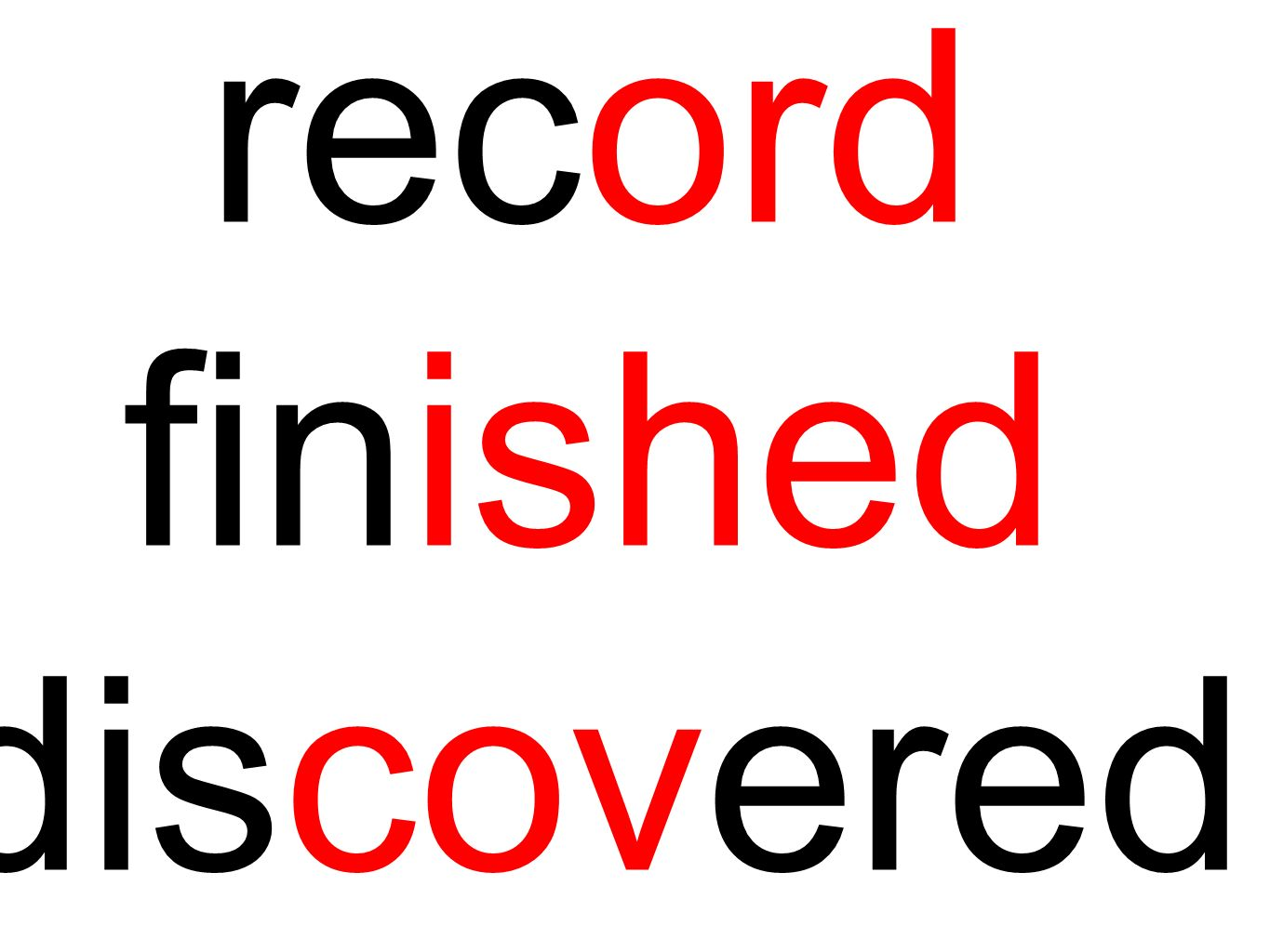 record finished discovered