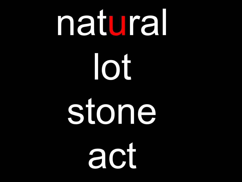 natural lot stone act