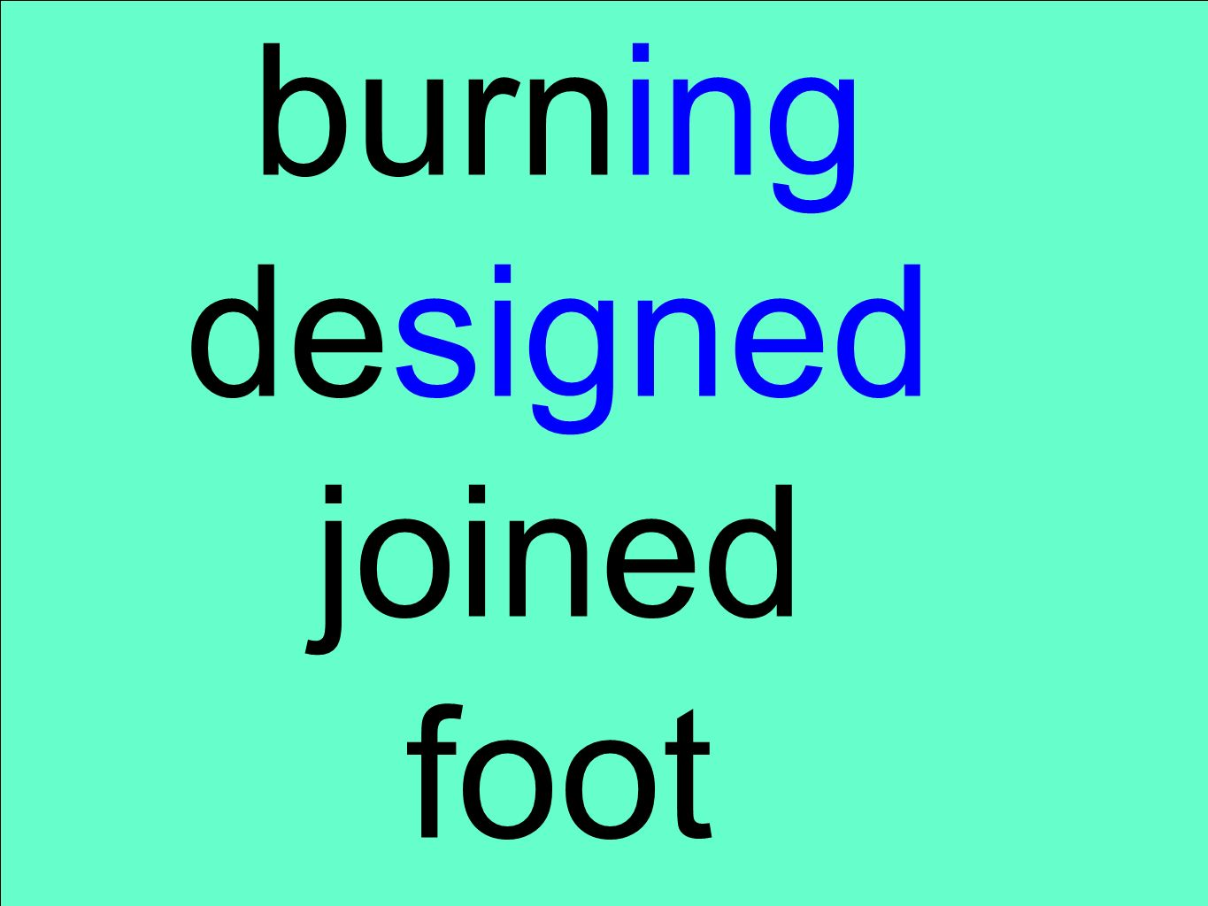 burning designed joined foot
