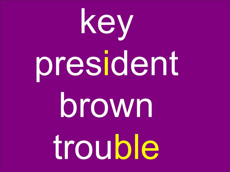 key president brown trouble